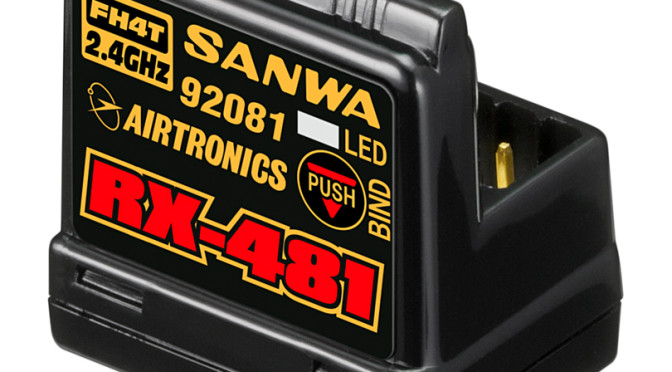 Sanwa RX-481 Empfänger – 4 Kanäle, 0 Kabelsalat