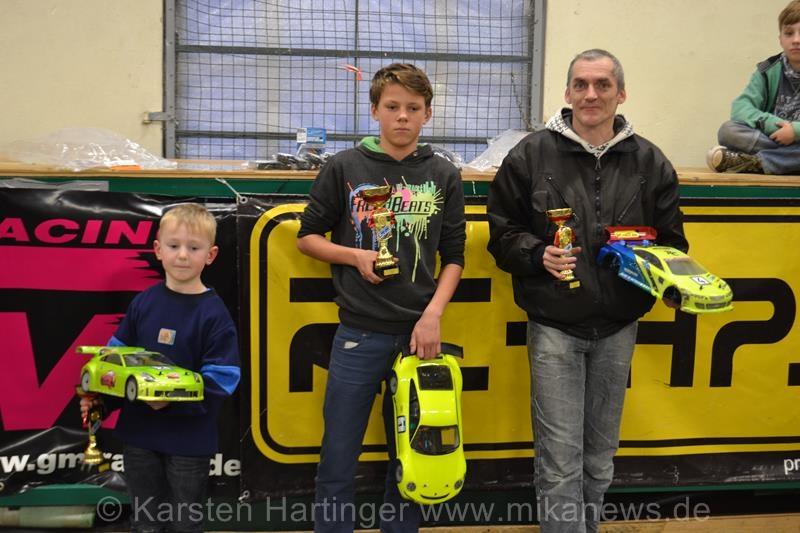 Sieger Rookie (v.l.n.r.): Juius Stein, Pierre Theuerkorn, Mario Müller