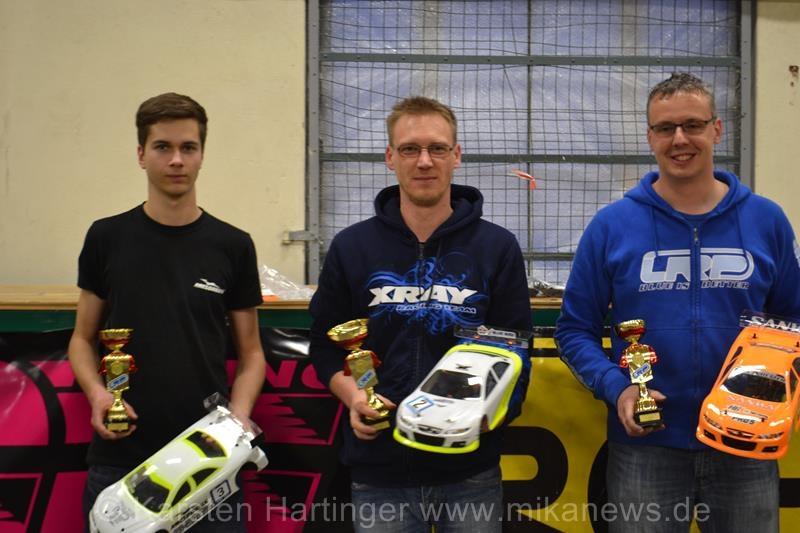Sieger Stock (v.l.n.r.): Johann Thiersch, Sven Müller, Steffen Stein