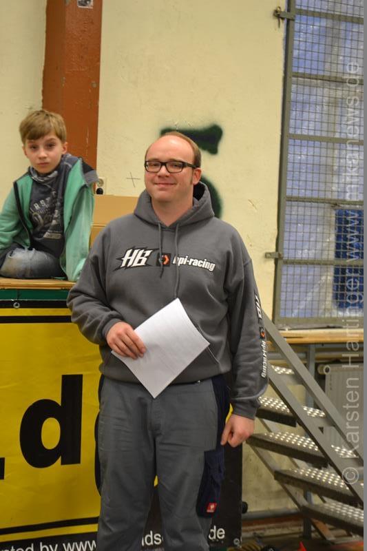 LRP Offroad TK Andreas Hanisch übernahm die Moderation der Siegerehrung.