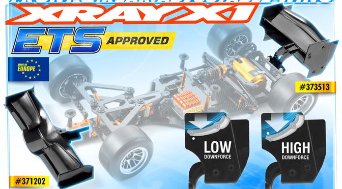ETS-legales Flügelwerk von XRAY für den X1 & X1`16