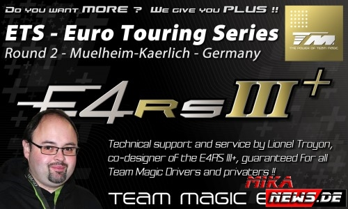 Team Magic Co-Designer bietet technischen Support bei Euro Touring Series in Mülheim-Kärlich