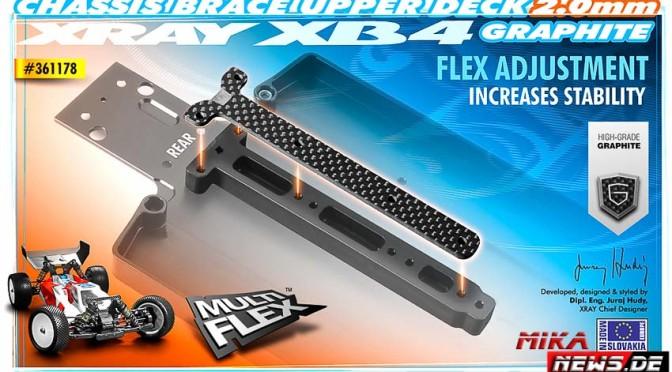Neue Kohlefaser-Versteifung für den Xray XB4