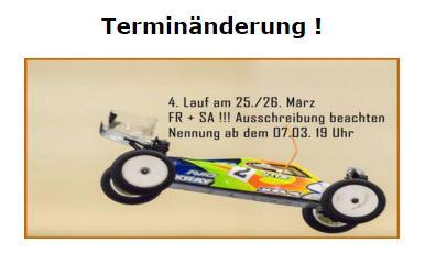 Terminänderung für den 4.Lauf zur Berlin-Trophy