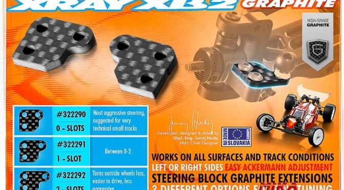 XB2  Kohlefaserplatten 2,5 mm für die Lenkhebel
