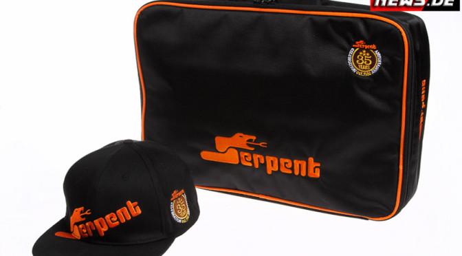 Serpent bringt eine neue Kappe und Laptop-Tasche im neuen Design