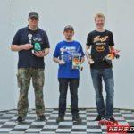Renè Sagawe gewinnt in der Klasse German Mini Offroad Series vor Marcel (rechts) und Stefan.