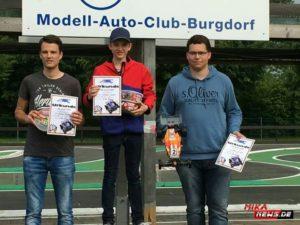 Dennis Eichholz (2), Sebastian Honscha (1) und Nikolaas Burleigh (3).