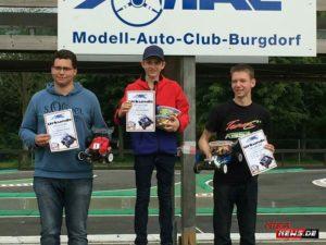 Beim SK-Lauf in Burgdorf konnte Sebastian in seiner Lieblingsklasse 4WD gewinnen.