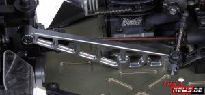 600845 Transmission brace alu RR SRX8