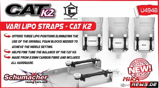 Schumacher Racing – Kohlefaserakkuhalter für den Cat K2