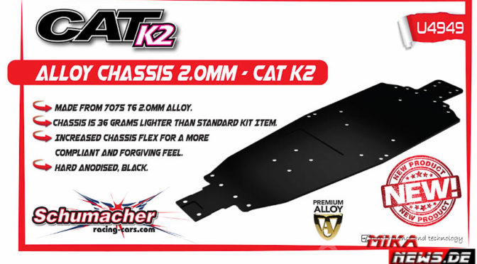 Schumacher Racing – Aluminium-Chassis für den Cat K2