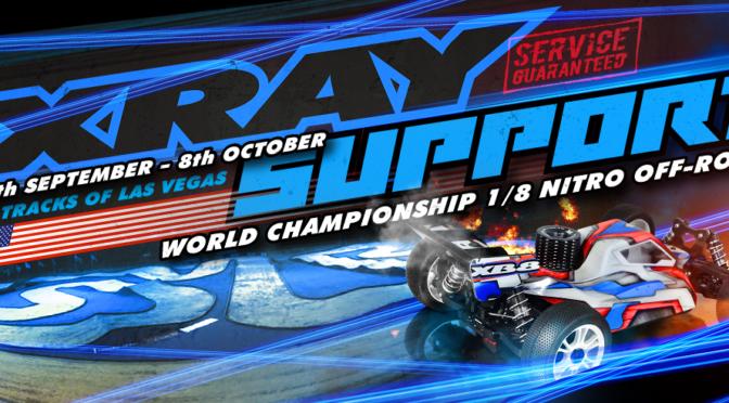 Xray Werksteam mit Support auf 1/8 Nitro Offroad WM in Las Vegas