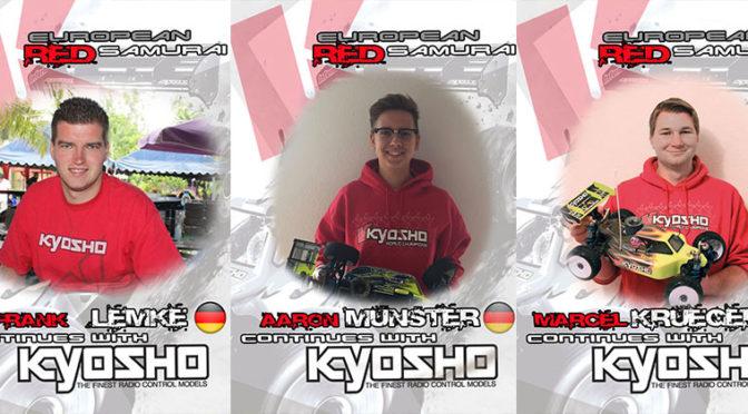 Aaron Münster, Frank Lemke und Marcel Krüger bei Team Kyosho Europe