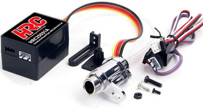 Die Nebelmaschine – HRC Racing Auspuff mit Nebelgenerator und LED-Einheit