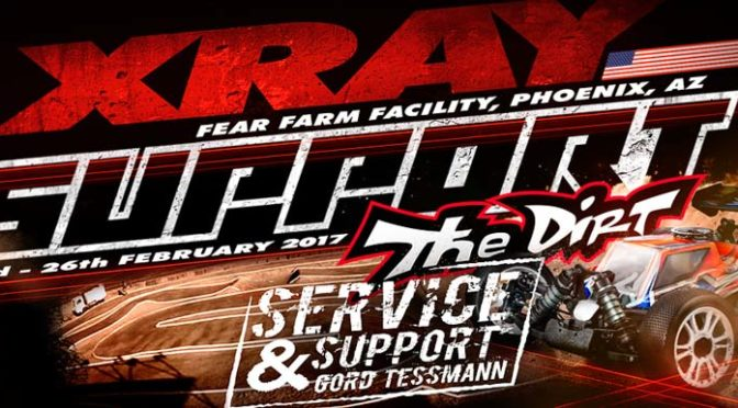 Team Xray mit Support beim The DIRT