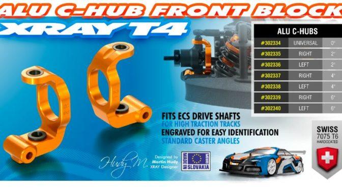 Xray T4 Aluminium C-Hub 2°