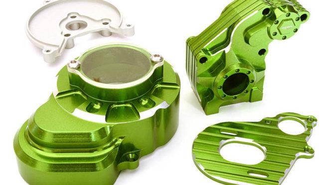 Getriebegehäuse für den Axial 1/10 SCX-10 in grün