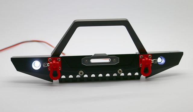 Aluminium-Bumper mit LEDs für 1/10 Crawler