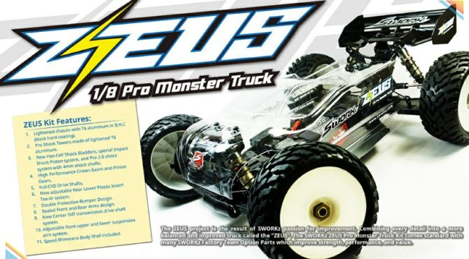 Sworkz ZEUS 1/8 Pro Monster Truck Kit
