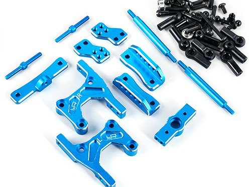Aluminum Rear 4-Link Conversion Blue für Tamiya CC01