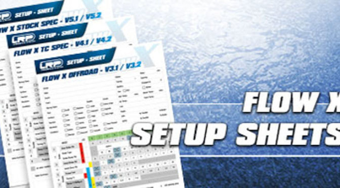 Flow X – Setup Sheets sind online