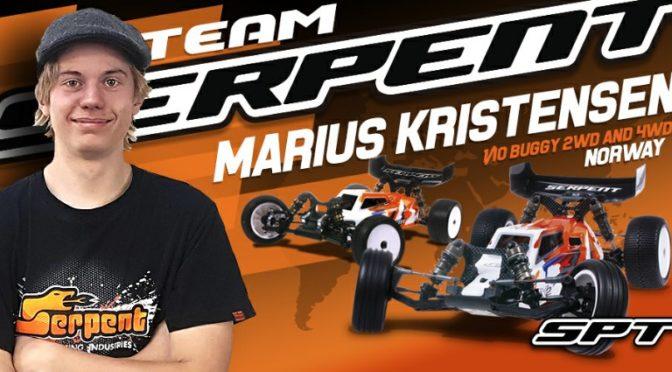 Marius Kristensen mit Team Serpent