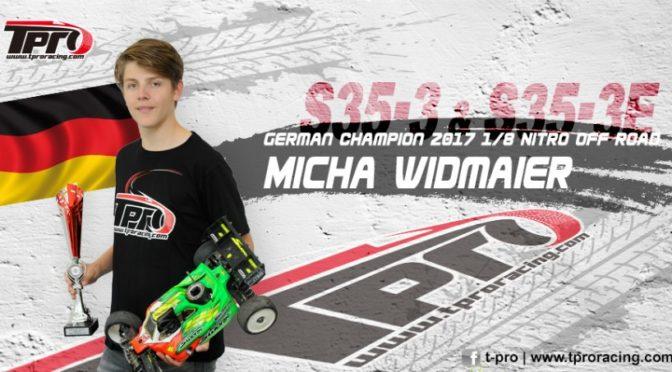 Micha Widmaier setzt weiter auf TPRO-Reifen