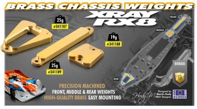 Messing-Gewichte für den Xray RX8