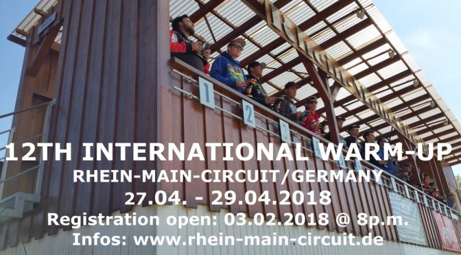 12TH INTERNATIONAL WARM-UP auf dem Rhein-Main-Circuit