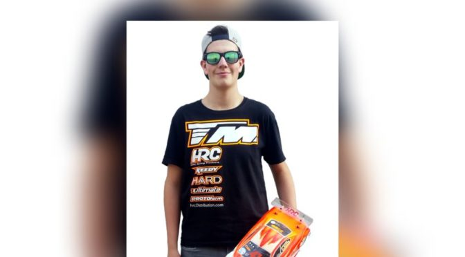 Marco Balmer / TM E4RS4 is Swiss Indoor Junior Champion in 1/10 Touring Modified