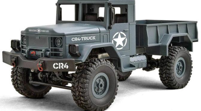CR4 Militär LKW EP 1/16 RTR – 4WD (grau)
