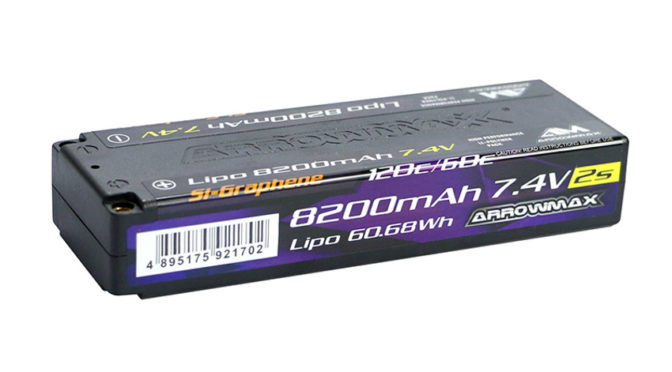 Arrowmax – AM Lipo 8200mAh 2S TC