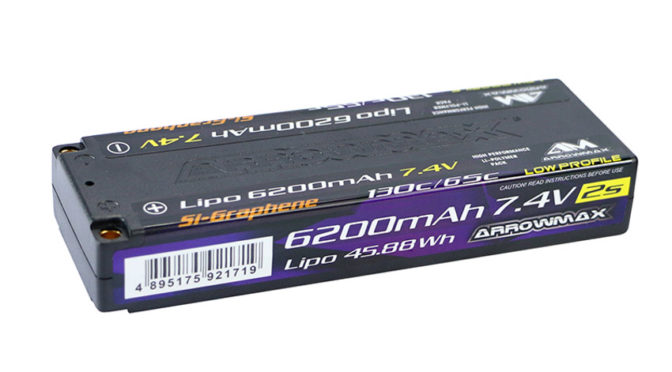 Arrowmax – AM Lipo 6200mAh 2S TC Low Profile