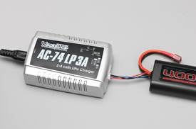 Lightweight one-touch AC LiPo Quick-Charger AC-74 LP 3A