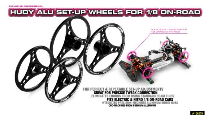 HUDY Alu Set-Up Räder für 1/8 On-Road