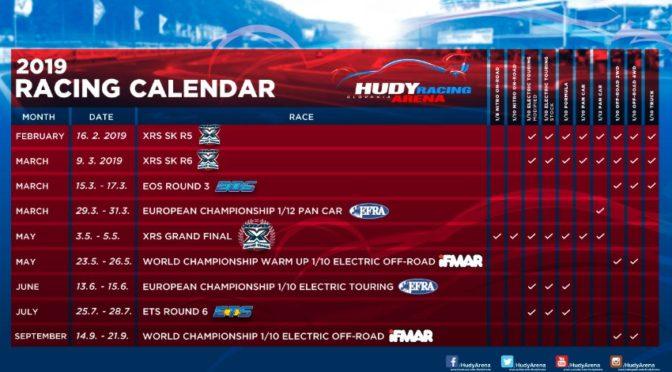 Hudy Arena Racing Calendar 2019