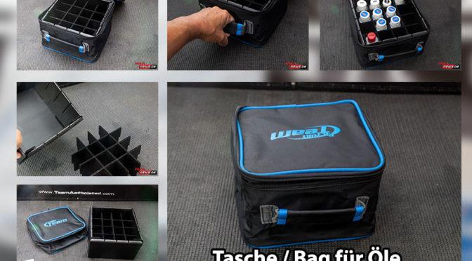 Praktische Tasche für Dämpfer- / Differenzialöl