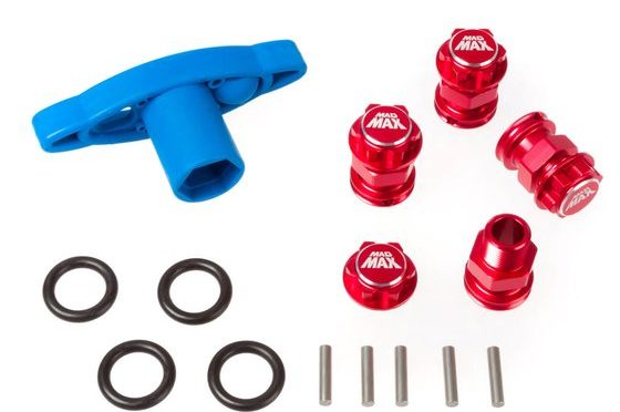 Breit, Breiter, am Breitesten mit dem Spurverbreiterung Set in rot + Radschlüssel