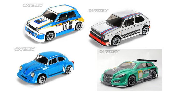 M-Chassis Karosserien von Carten RC