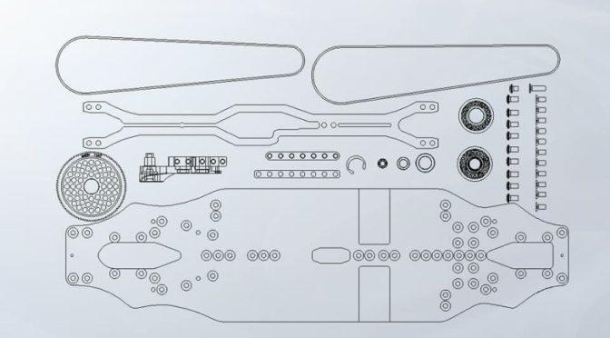 Durch die Mitte! Arrowmax zeigte zwei Mittelmotor-Sets für Xray und Yokomo