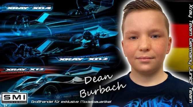 SMI XRAY Germany begrüßt Dean Burbach im Junior Team
