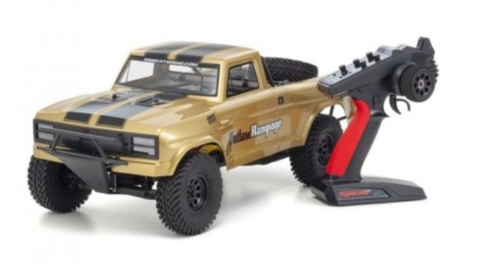 KYOSHO OUTLAW RAMPAGE PRO 1:10 RC EP READYSET – T1 GOLD