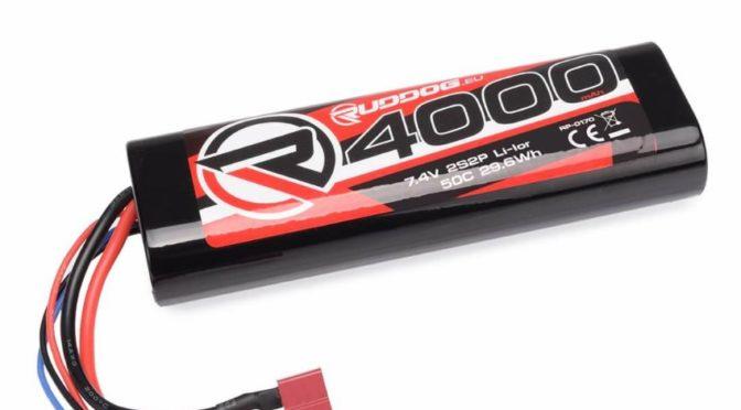 RUDDOG 4000mAh 7,4V 50C Lithium-Ion Stick Pack
