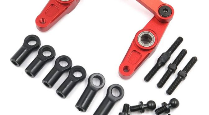 Aluminum Steering Set – Tamiya TT-01 TT-01E Red