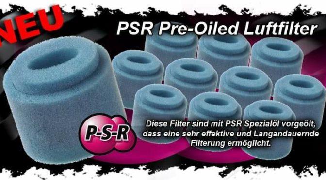 Vorgeölte Doppelluftfilter von PSR