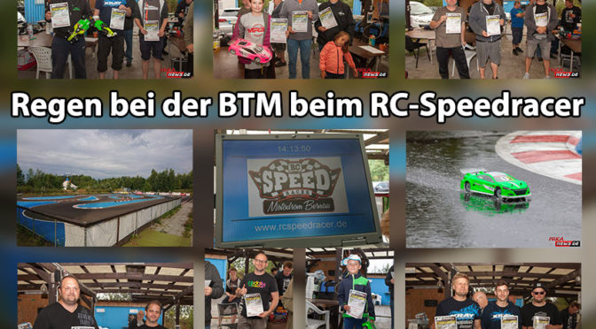 Abbruch des BTM-Laufes bei dem RC-Speedracer wegen Regens
