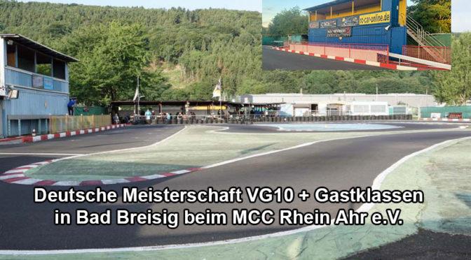 Deutsche Meisterschaft VG10 + Gastklassen in Bad Breisig – Die Nennphase öffnet