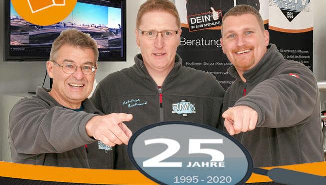 25 Jahre für euch da – Firmenjubiläum RMV Deutschland!