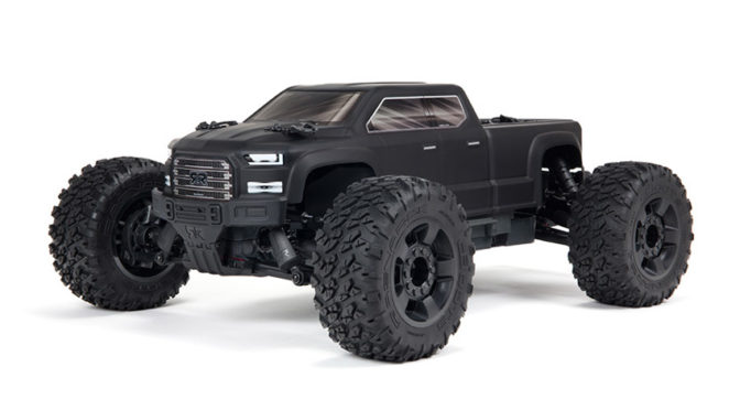 ARRMA® 3S SERIES UPDATE – ARRMA® BIG ROCK™ CREW CAB 4X4 3S BLX MONSTER TRUCK RTR